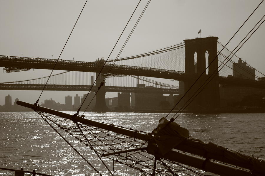The Brooklyn And Manhattan Bridges Photograph  - The Brooklyn And Manhattan Bridges Fine Art Print