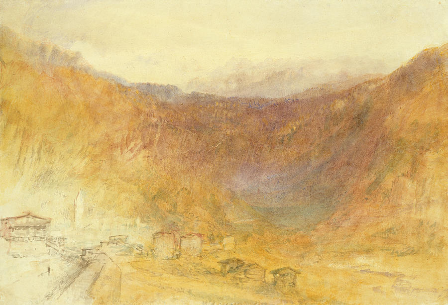 The Brunig Pass From Meiringen Painting