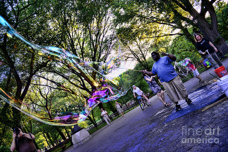 The Bubble Man Of Central Park Photograph