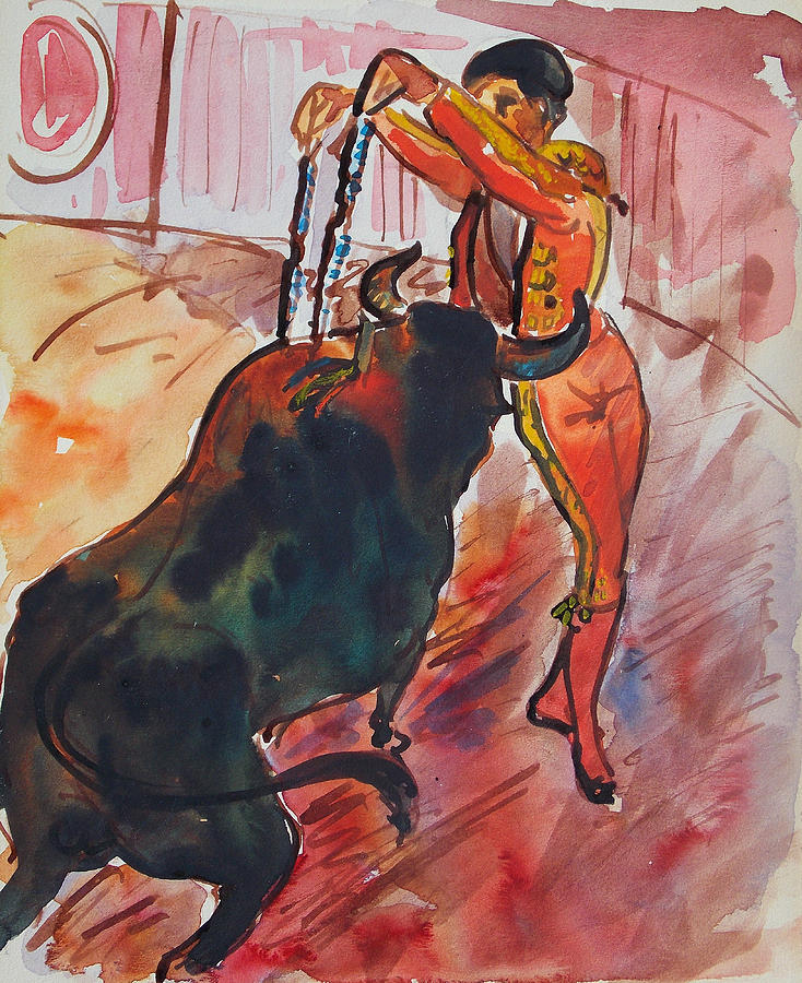 The Bull Fight Painting