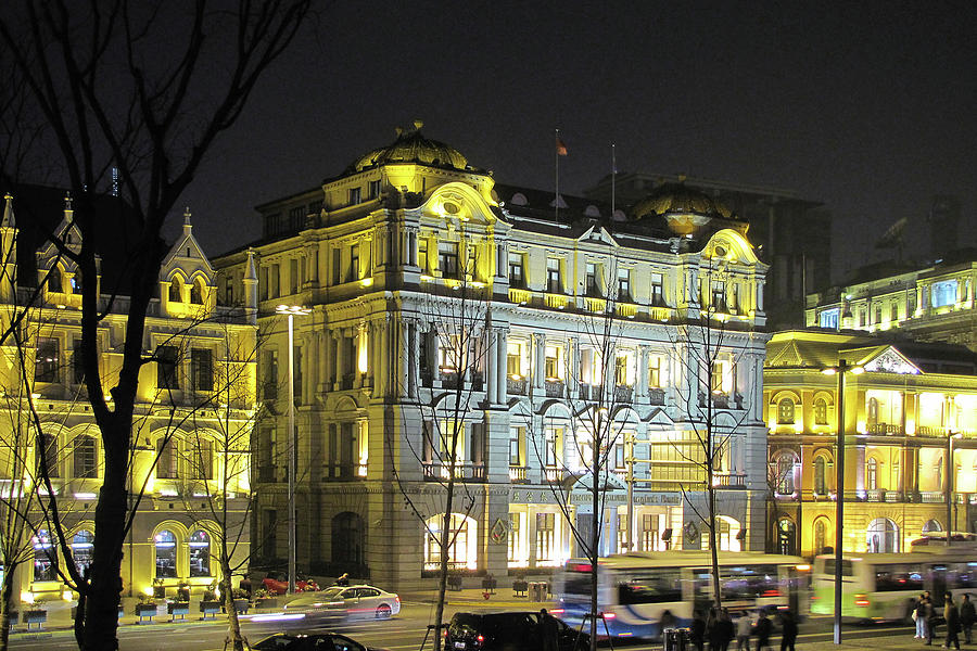 The Bund - Shanghais Signature Strip Of Historic Riverfront Architecture Photograph  - The Bund - Shanghais Signature Strip Of Historic Riverfront Architecture Fine Art Print