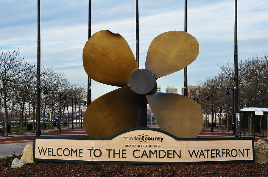 The Camden Waterfront Photograph - The Camden Waterfront by Bill Cannon