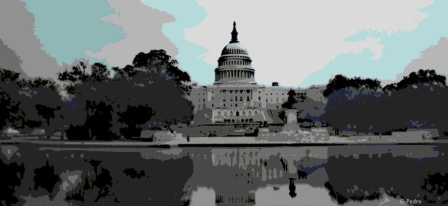 the Capitol  Photograph  - the Capitol  Fine Art Print
