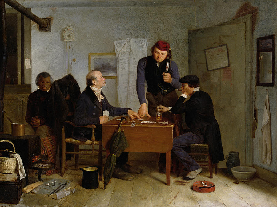 The Card Players Painting  - The Card Players Fine Art Print