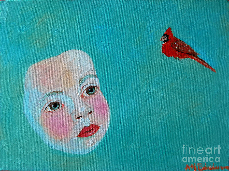 The Cardinals Song Painting  - The Cardinals Song Fine Art Print