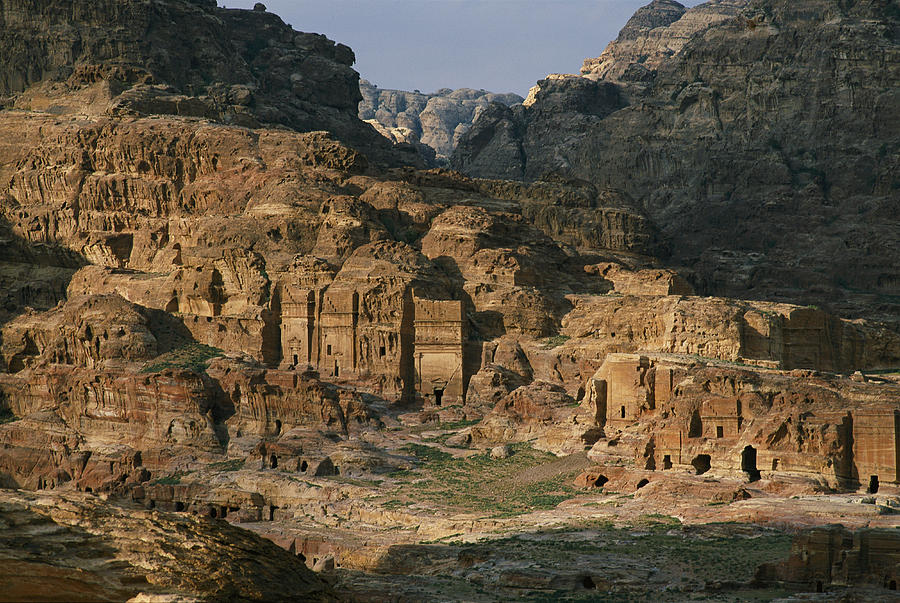 The Caves And Tombs Of Petra, Shown Photograph