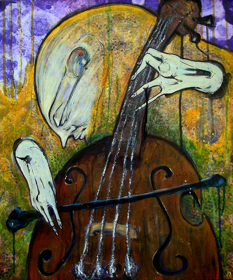The Celloist Painting  - The Celloist Fine Art Print