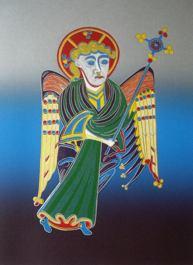 The Celtic Angel Mixed Media