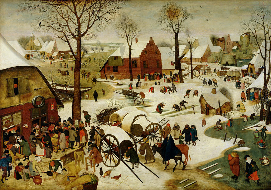 The Census At Bethlehem Painting
