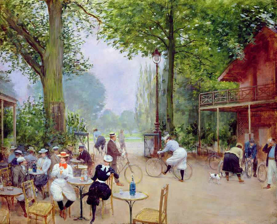 The Chalet Du Cycle In The Bois De Boulogne Painting  - The Chalet Du Cycle In The Bois De Boulogne Fine Art Print