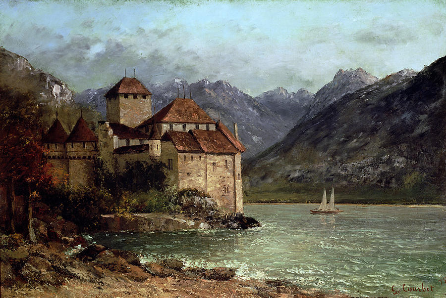 The Chateau De Chillon Painting  - The Chateau De Chillon Fine Art Print
