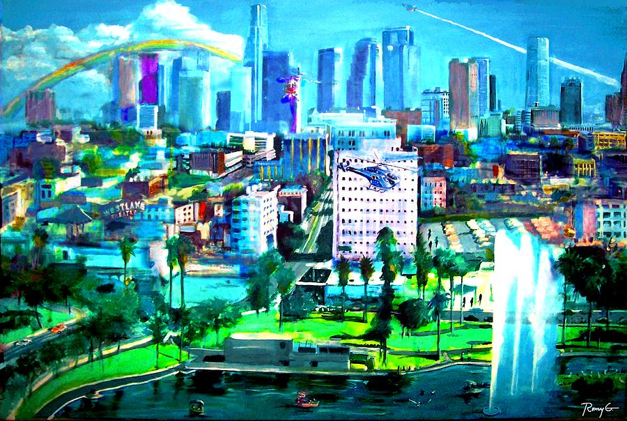 The City Of Angels Painting  - The City Of Angels Fine Art Print