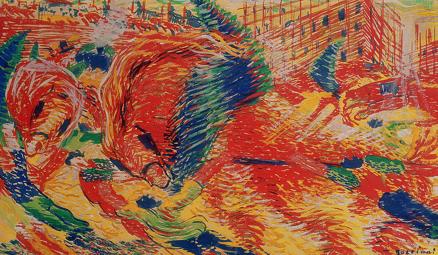 Urban Painting - The City Rises by Umberto Boccioni
