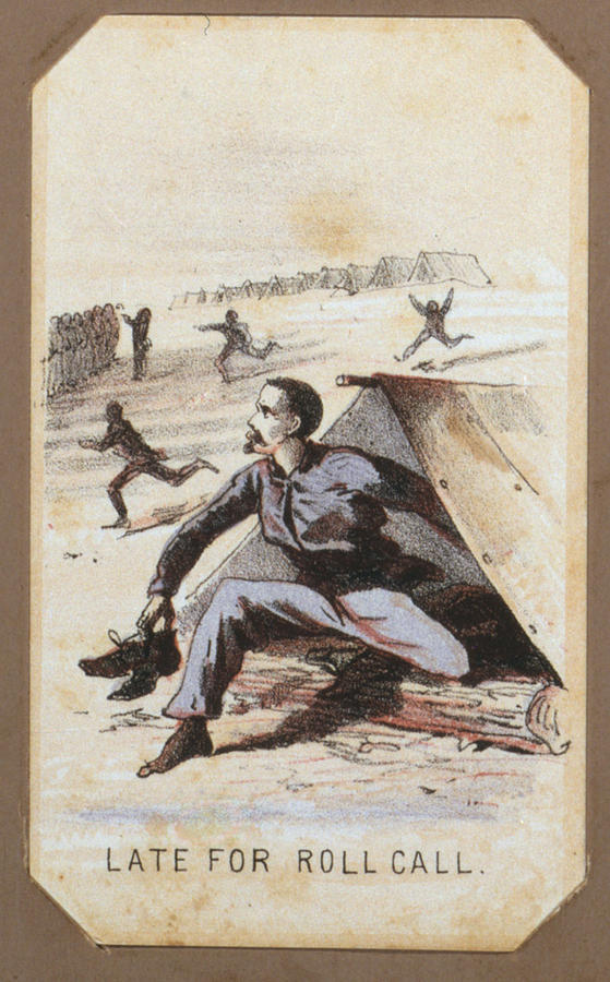 The Civil War, Life In Camp, Late For Photograph