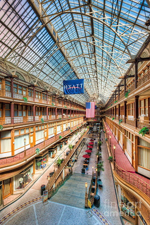 Clarence Holmes Photograph - The Cleveland Arcade I by Clarence Holmes