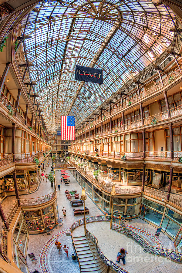 The Cleveland Arcade Iv Photograph  - The Cleveland Arcade Iv Fine Art Print