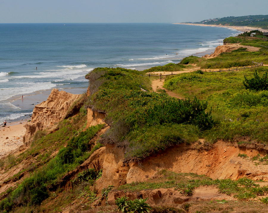 The Cliffs Of Montauk Looking West Photograph  - The Cliffs Of Montauk Looking West Fine Art Print