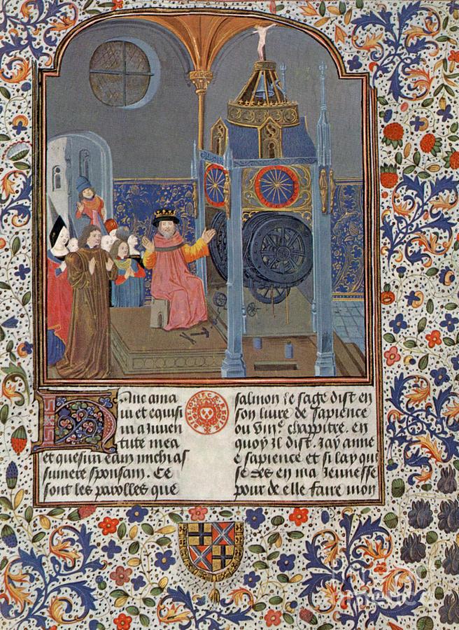 The Clock Of Wisdom, Illuninated Photograph