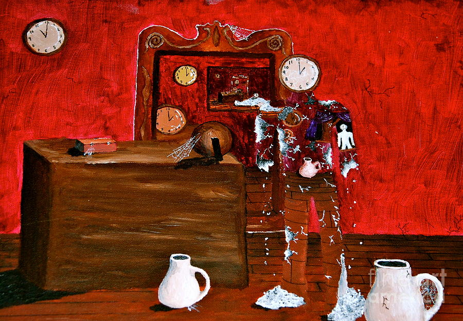 The Clock Room Painting  - The Clock Room Fine Art Print
