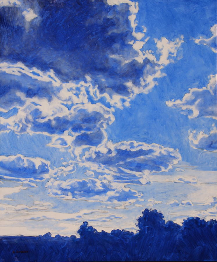 The Cloud Procession Painting  - The Cloud Procession Fine Art Print