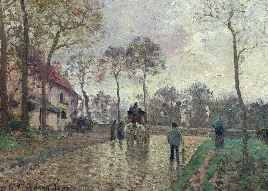 The Coach To Louveciennes Painting