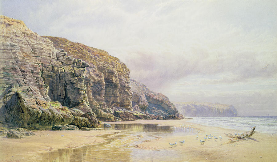 The Coast Of Cornwall  Painting