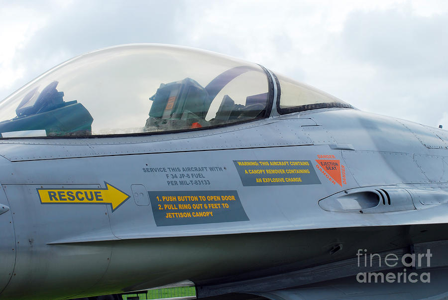 The Cockpit Of An F-16 Fighting Falcon Photograph  - The Cockpit Of An F-16 Fighting Falcon Fine Art Print