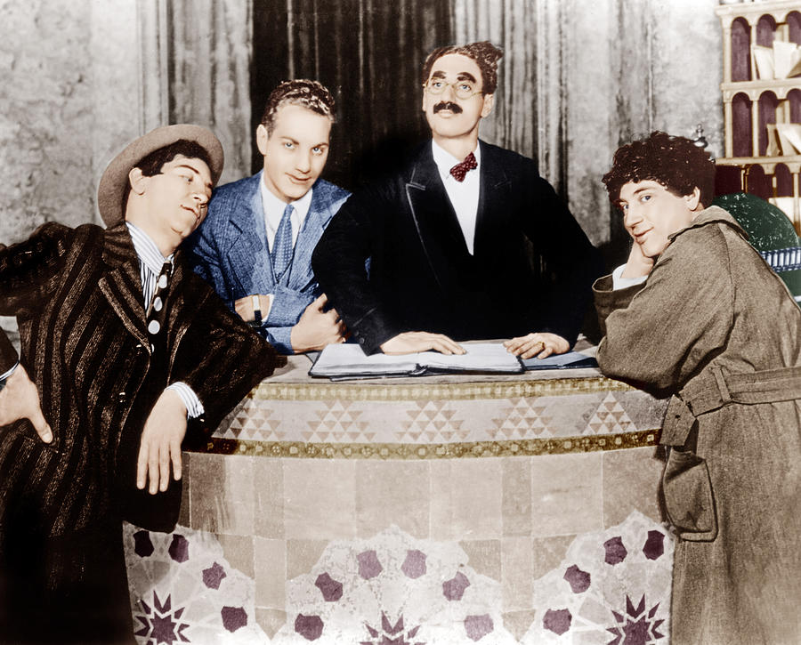 1920s Movies Photograph - The Cocoanuts, From Left Chico Marx by Everett