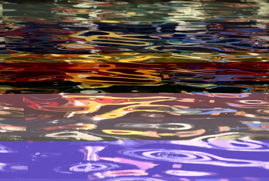 The Colorful Riverwalk Is Reflected Photograph