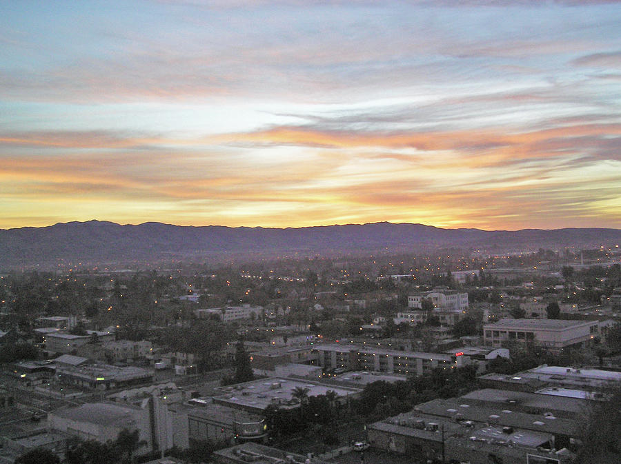 The Colors Of The Sky Over San Jose At Sunset Photograph  - The Colors Of The Sky Over San Jose At Sunset Fine Art Print