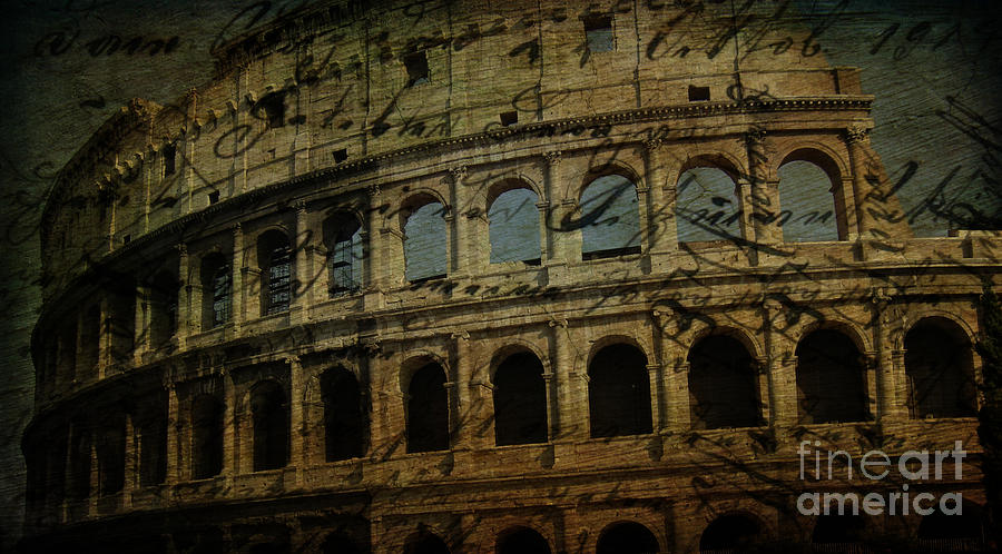 The Colosseum Of Rome Photograph  - The Colosseum Of Rome Fine Art Print