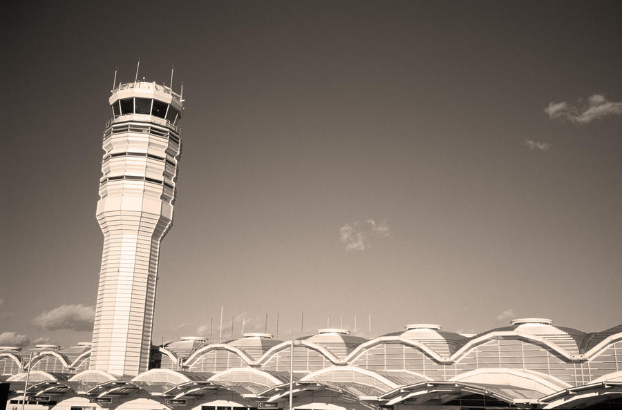 The Control Tower And Photograph  - The Control Tower And Fine Art Print