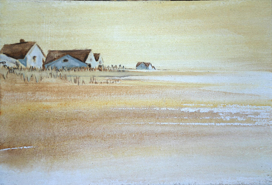 the cottages on BH Island Painting