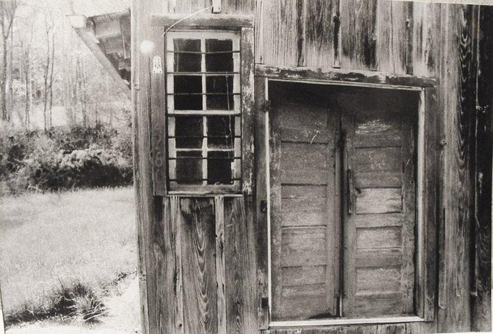 Weathered Building Pyrography - The Country Kichen by Mary  Pritchard