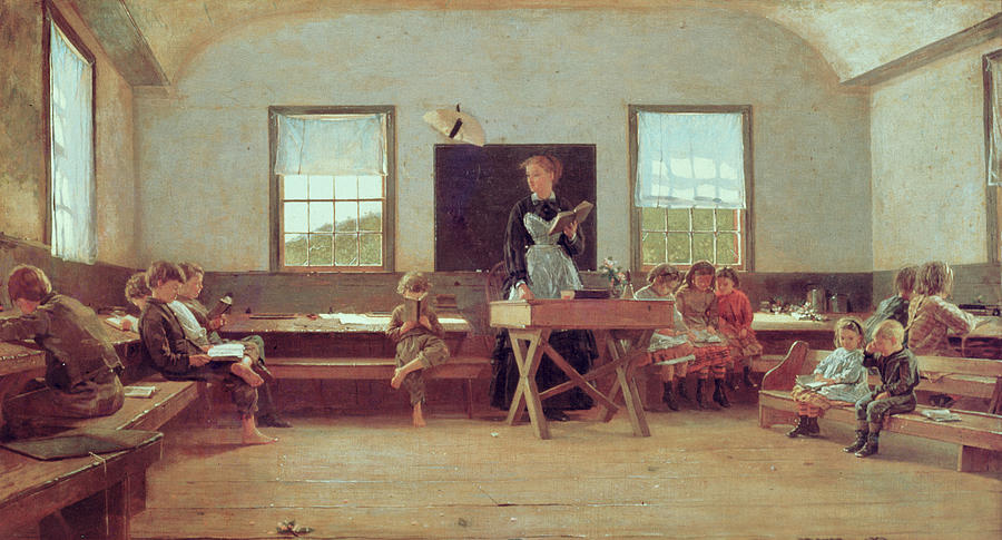 The Country School Painting  - The Country School Fine Art Print