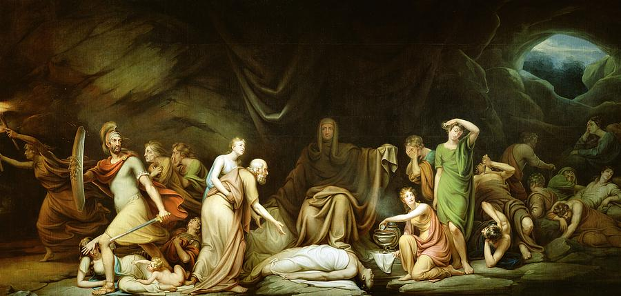 The Court Of Death Painting  - The Court Of Death Fine Art Print