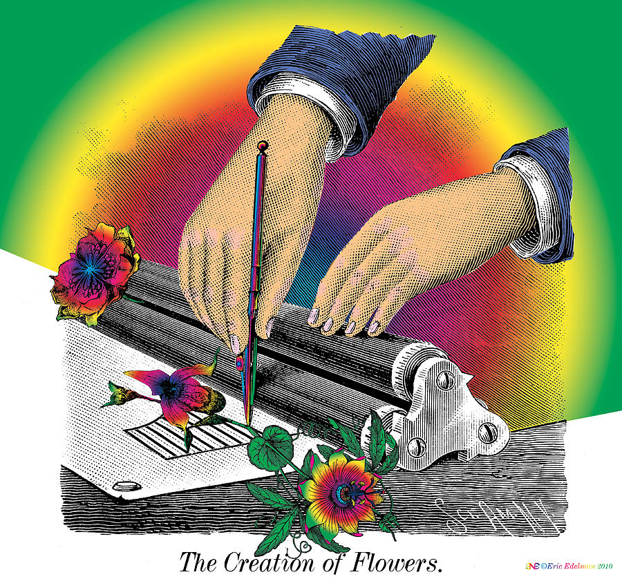 The Creation Of Flowers Digital Art