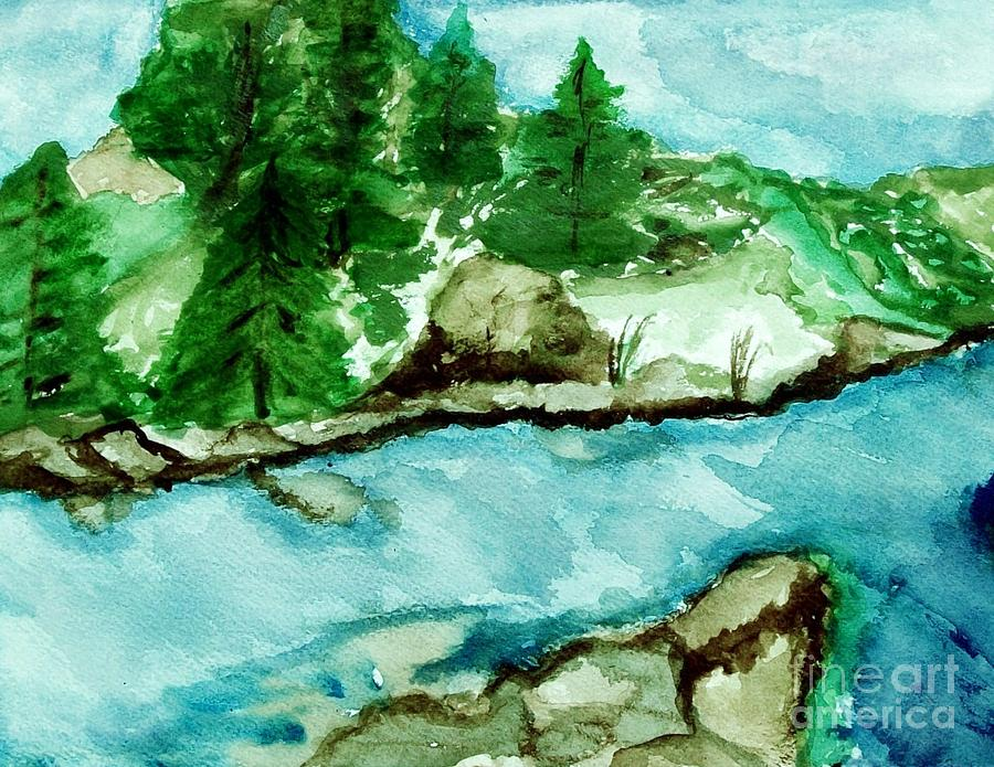 The Creek Bend Painting  - The Creek Bend Fine Art Print