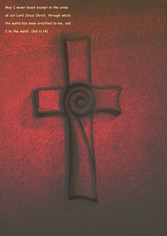 The Cross Digital Art  - The Cross Fine Art Print
