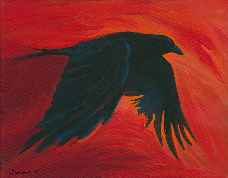 Crow Flying Paintings ...