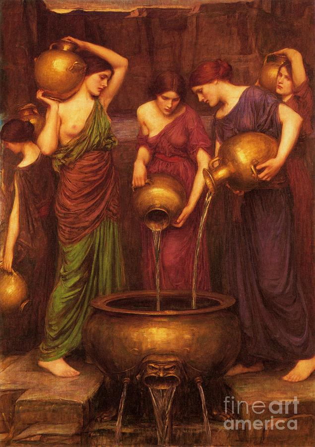 The Danaides Painting  - The Danaides Fine Art Print