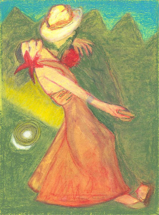 The Dance Pastel  - The Dance Fine Art Print
