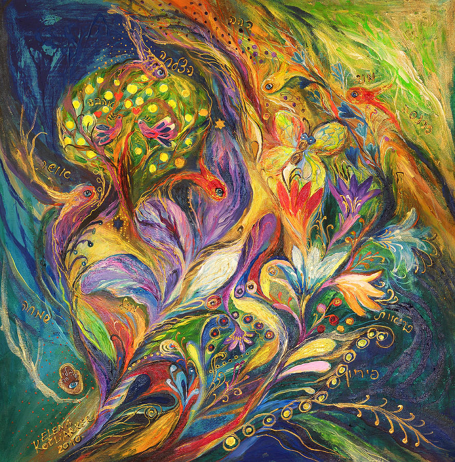 The Dance Of Lilies Painting  - The Dance Of Lilies Fine Art Print