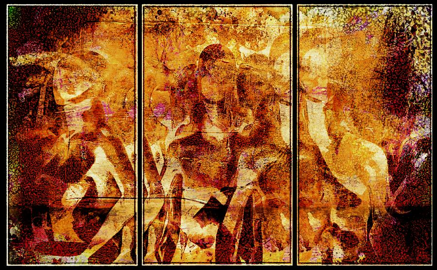 The Day Walkers Mixed Media  - The Day Walkers Fine Art Print
