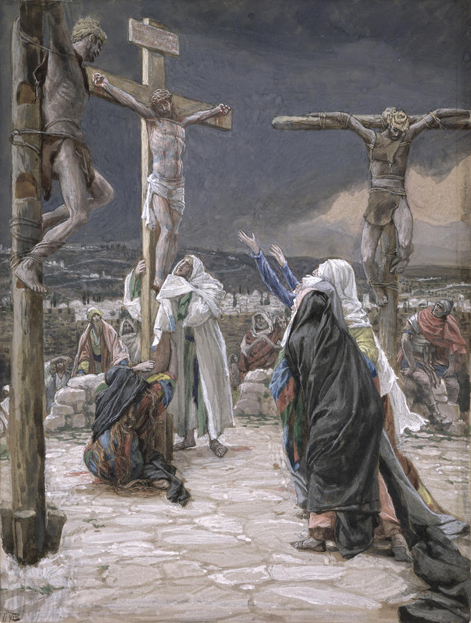 The Death Of Jesus Painting  - The Death Of Jesus Fine Art Print