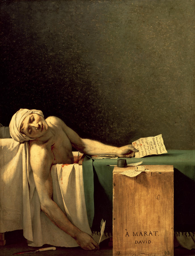 The Death Of Marat Painting  - The Death Of Marat Fine Art Print