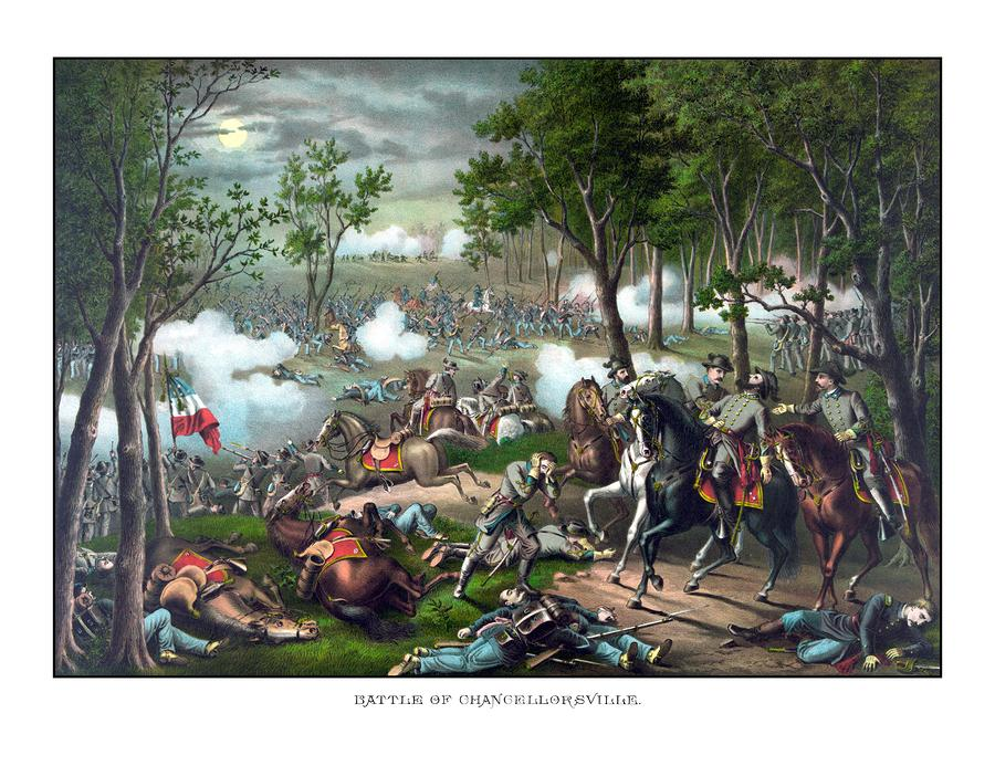 The Death Of Stonewall Jackson Painting  - The Death Of Stonewall Jackson Fine Art Print