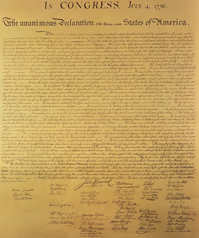The Declaration Of Independence Painting