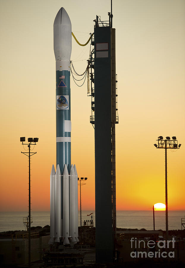 The Delta II Rocket On Its Launch Pad Photograph  - The Delta II Rocket On Its Launch Pad Fine Art Print