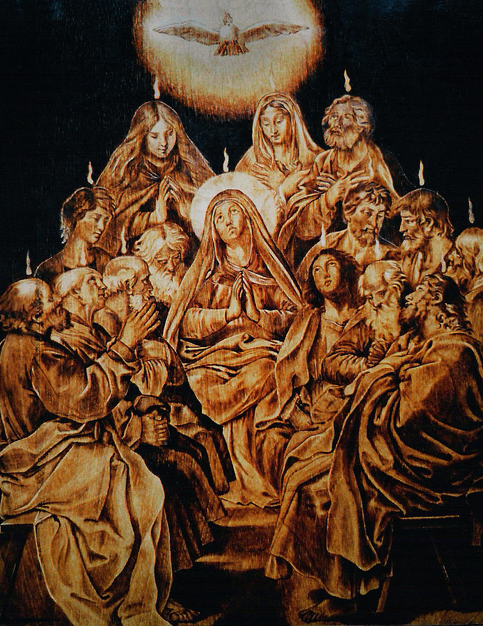 The Descent Of The Holy Spirit Pyrography